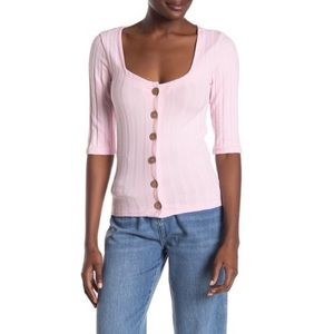NWT Free People Pink Central Park Top
